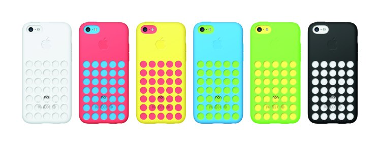 The iPhone 5C with it's new case