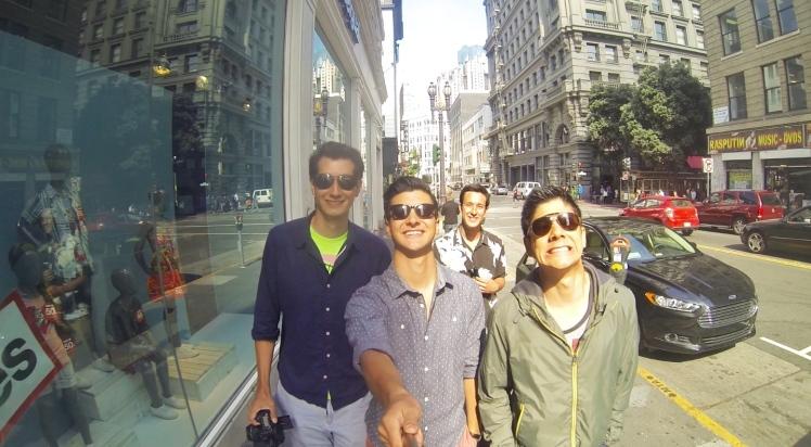 Luke and the video crew in San Francisco, California