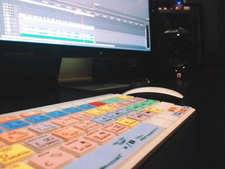 My editing system.