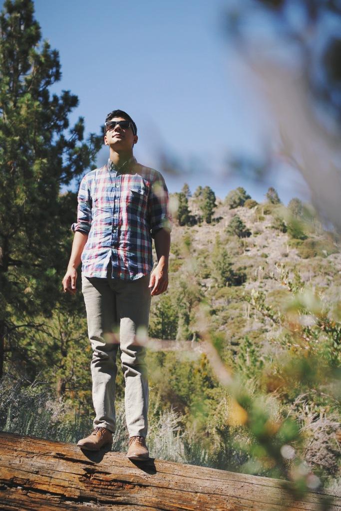 Keenan embracing his nature side.